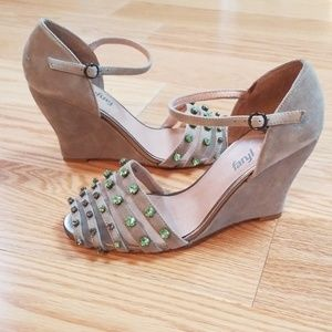 Anthropologie wedge shoes